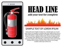 Fireman on mobile Royalty Free Stock Photography