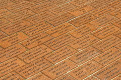 Fireman Monument on brick floor in Ocean City Stock Photo