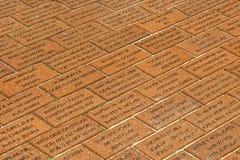 Fireman Monument on brick floor in Ocean City Stock Photo