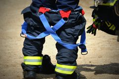 Fireman pants with suspenders Stock Images