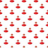 Fireman pattern seamless. Repeat in cartoon style vector illustration Royalty Free Stock Photos