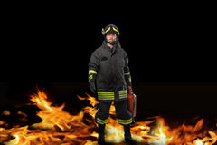Fireman portrait Stock Photos