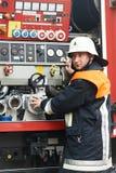 Fireman portrait on duty Stock Image