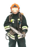 The fireman in regimentals Royalty Free Stock Image