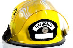 Fireman's Helmet. A fireman's safety protective equipment Royalty Free Stock Photo