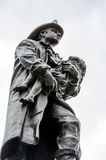 Fireman's monument bronze Stock Photo
