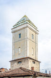 Fireman's tower in the medieval historic center of Cluj Napoca Royalty Free Stock Photo
