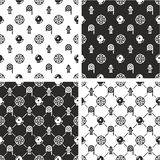 Fireman Seamless Pattern Set. This image is a illustration and can be scaled to any size without loss of resolution Royalty Free Stock Photography