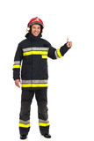 Fireman showing thumb up Royalty Free Stock Images