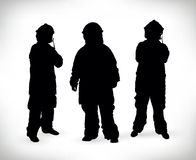 Fireman silhouette vector illustration Stock Image