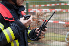Fireman spark with radios set Royalty Free Stock Images