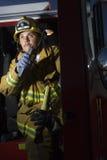 Fireman Talking On Radio Royalty Free Stock Photo