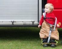 Fireman toddler Stock Photo