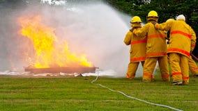 Fireman training Stock Image