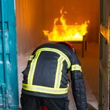 Fireman - training stock photo