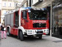 Fireman truck in Vienna Stock Photography