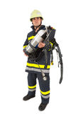 Fireman in uniform isolated Royalty Free Stock Photo