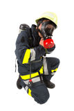 Fireman in uniform isolated Stock Photo