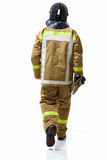 Fireman. In uniform on a white background Royalty Free Stock Images