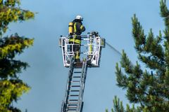 Fireman at work Royalty Free Stock Images