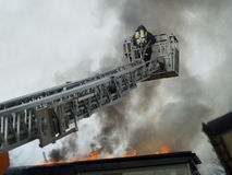 Fireman working Stock Images