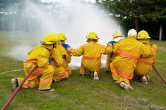 Fireman are working Royalty Free Stock Photo