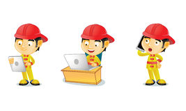 Fireman 3. For your business Royalty Free Stock Image