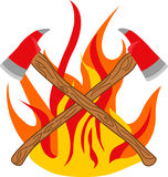 FIREMANS CROSSED AXES Royalty Free Stock Photography