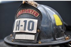 firemans kapelusz odizolowywający Obraz Stock