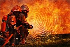 Firemans training Stock Images