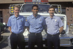 Firemen. In  Los Altos, California Stock Image