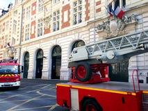 Firemen in Action -Paris Stock Photo