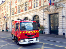 Firemen in Action - Paris Royalty Free Stock Photography