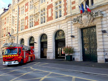 Firemen in Action - Paris Stock Photography