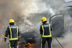 Firemen in action! Royalty Free Stock Images