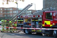Firemen Attending A Fire. Stock Images