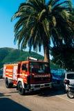 Firemen building in Perast. Fire Department. Montenegro, Kotor Bay stock images