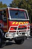 Firemen car Stock Images