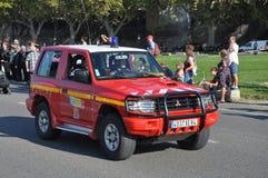 Firemen car Stock Photography