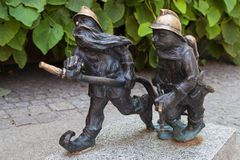 Firemen dwarves in Wroclaw Royalty Free Stock Images