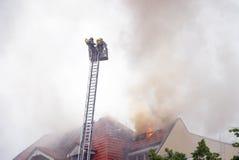 Firemen ladder Stock Photo