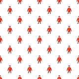 Firemen pattern. Seamless repeat in cartoon style vector illustration Royalty Free Stock Photography