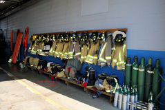 Firemen's Equipment Stock Photography