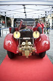 Firemen's old truck. At the Mille Miglia classic race Stock Image
