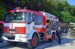 Firemen on the scene Royalty Free Stock Photography
