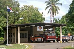 Firemen Station in David II  - Panama Republic Royalty Free Stock Photography