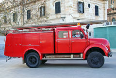 Firemen Truck Royalty Free Stock Photos