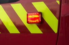 Firemen truck emergency light Stock Image