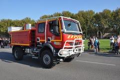 Firemen vehicle Stock Image
