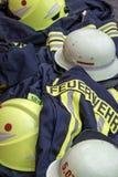 Firemen. Workware Helmet jacket safety Royalty Free Stock Photos